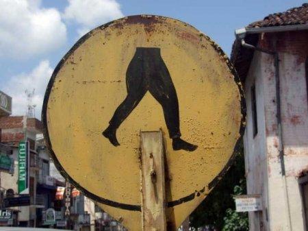 Смешные и странные дорожные знаки